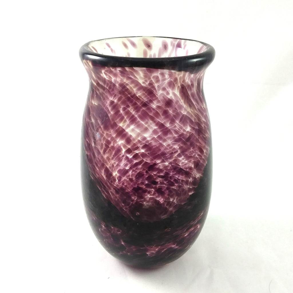 Handmade Art Glass Vase, Purple, Small, Spring Gift