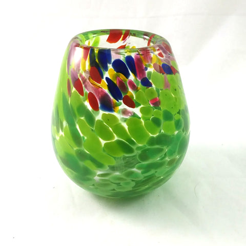 Handmade Glass Vase, Multi Color, Small, Spring Gift