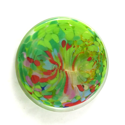 Spring Themed Art Glass Rondel for Stained Glass Work, 3.5""