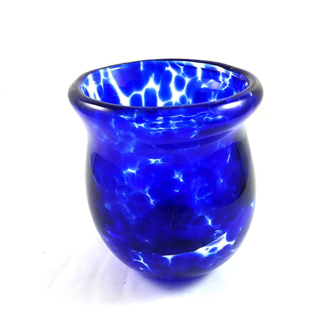 Handmade Glass Vase, Cobalt Blue, Small, Mother's Day Gift