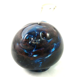 Handmade Art Glass Bird Paperweight, Blue and Red, Medium, Mother's Day Gift