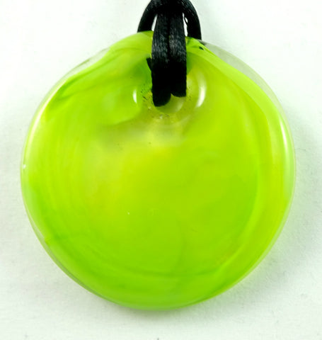 Handmade Yellow-Green Hot Glass Jewelry, SECOND