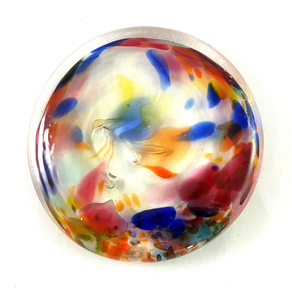 Rondel for Stained Glass Work, Multi Color, 2.25""