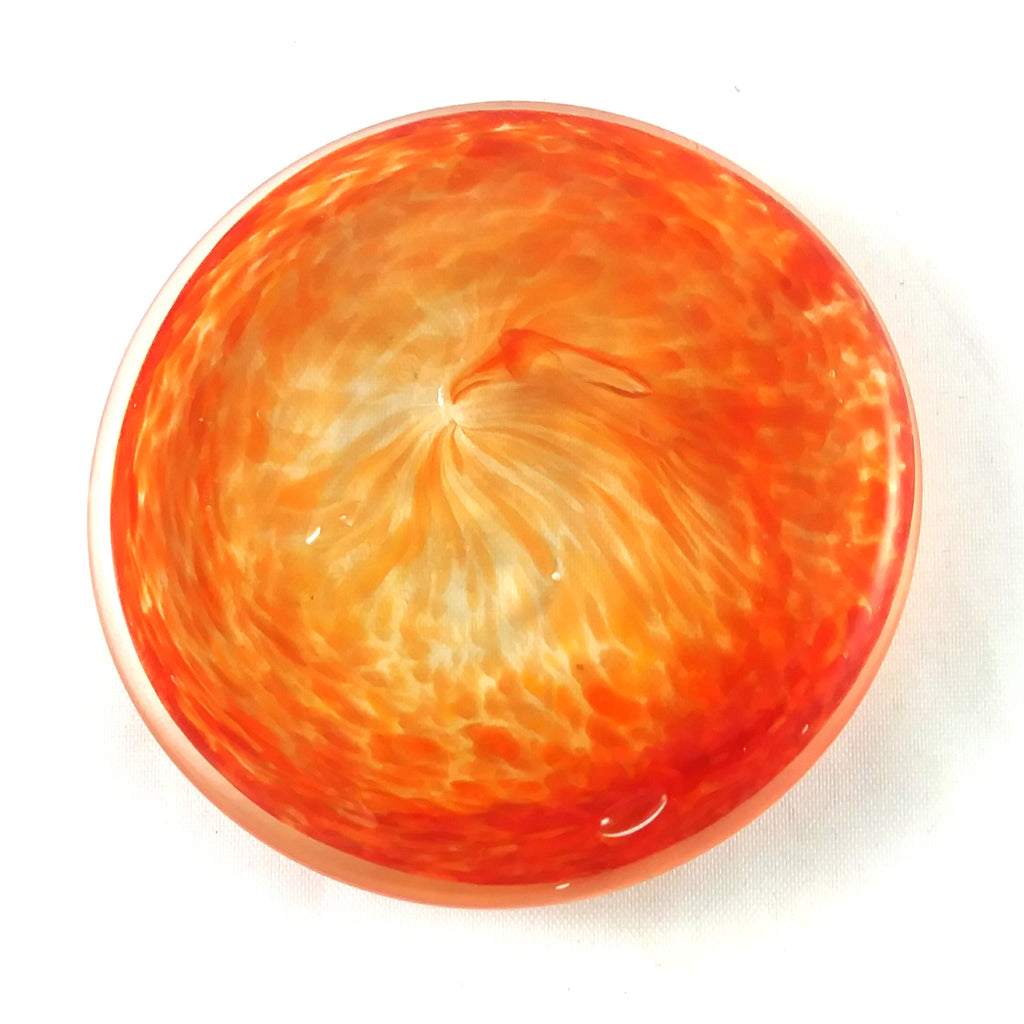 Rondel for Stained Glass Work, Orange, 2.25""