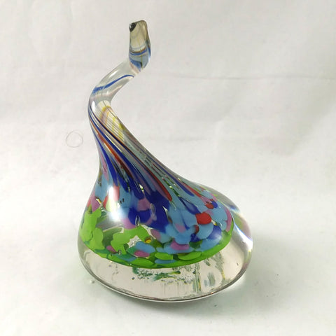 Handmade Art Glass Ring Holder, Spring Colors, Large