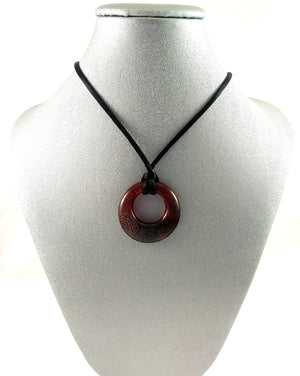 Handmade Art Glass Red Hoop Jewelry, Fall Gift, SECOND