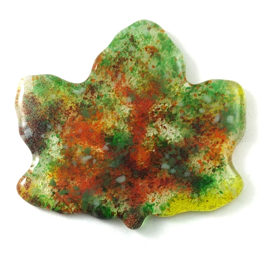 "Small Art Glass Maple Leaf, 3.5"", Fall Gift, Design by..."