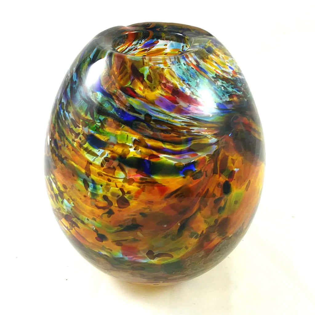 Art Glass Vase, Multi Color, Christmas Gift