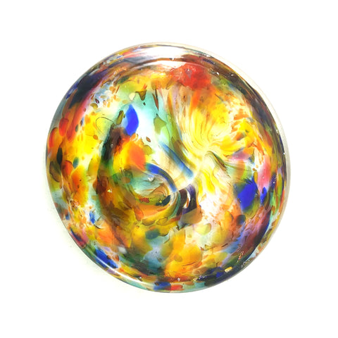 Multi Colored Rondel for Stained Glass Work, 3""