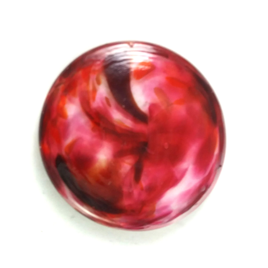 Rondel for Stained Glass Work, Reds, 2.5""