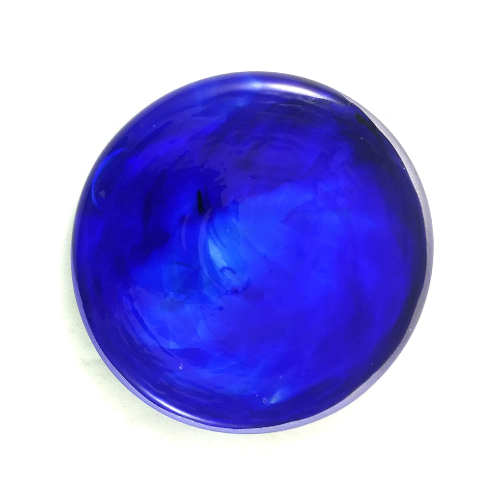 Rondel for Stained Glass Work, Cobalt Blue, 2.25""