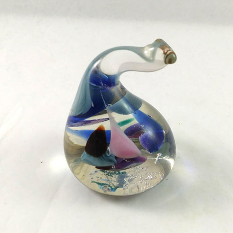 Handmade Art Glass Ring Holder, Multi Color, Small