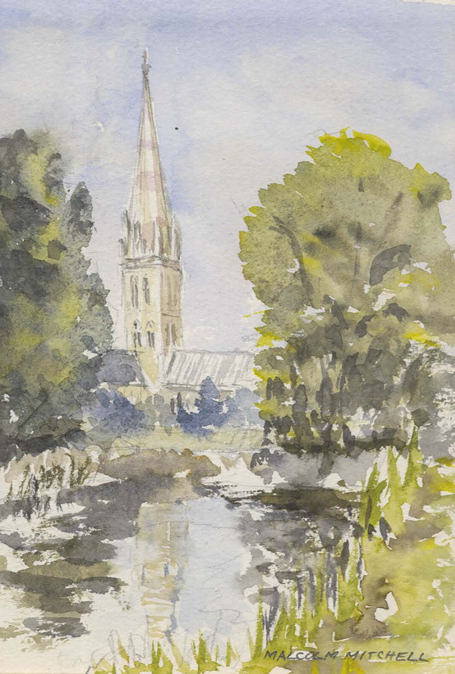 Malcolm Mitchell - Salisbury Cathedral, 1998 Watercolour