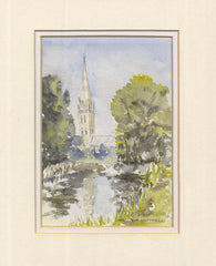 Salisbury Cathedral Watercolour Painting
