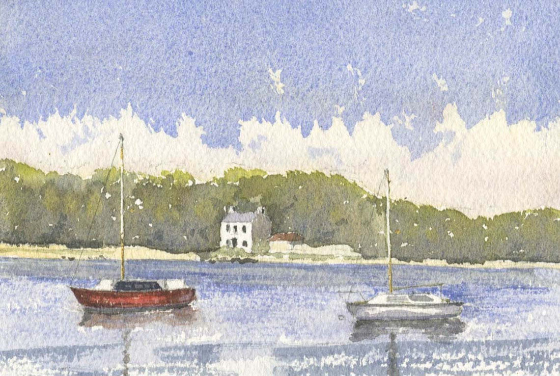 Malcolm Mitchell - Quiet Waters, Brittany, 1993 Watercolour