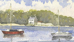 Malcolm Mitchell - Quiet Waters, Brittany, 1993 Original Watercolour Painting