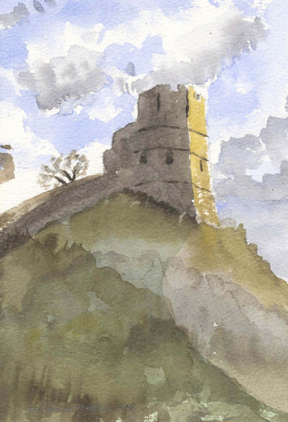 Malcolm Mitchell - Lewes Castle, 1995 Watercolour