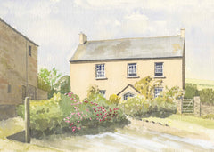 Malcolm Mitchell - Country Cottage, Contemporary Watercolour