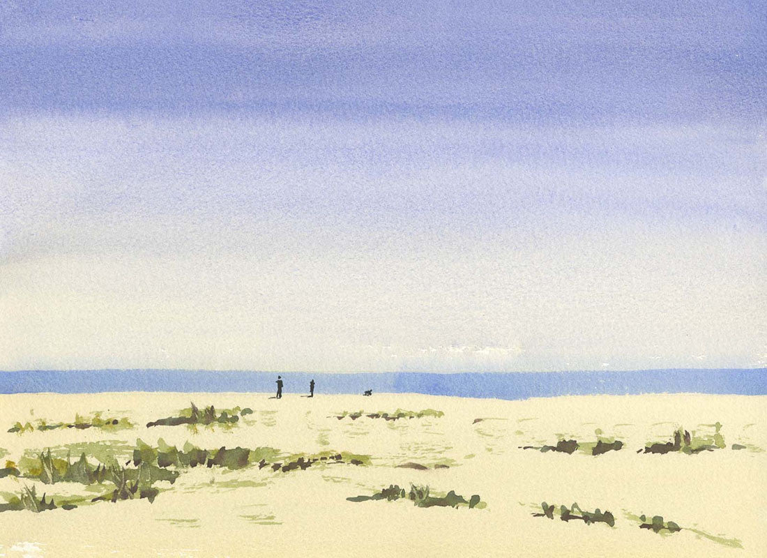 Malcolm Mitchell - Golden Sands, Contemporary Watercolour