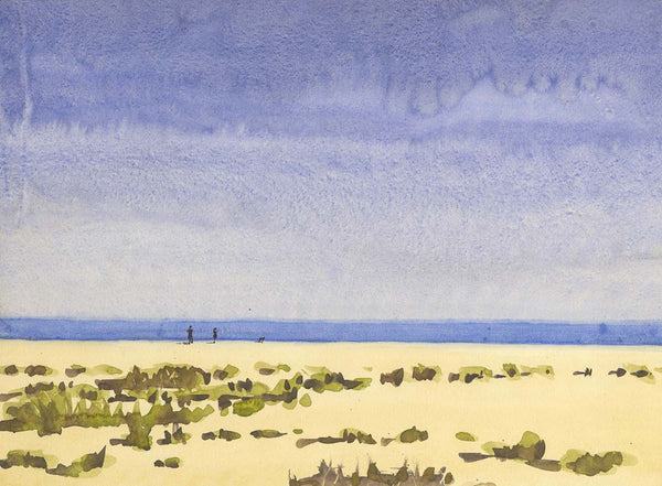 Malcolm Mitchell - Sandy Beach, Original Contemporary Watercolour Painting