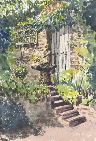 Malcolm Mitchell - At The Top Of The Steps, 2002 Watercolour