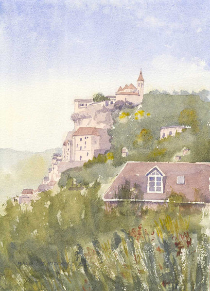 Malcolm Mitchell - Rocamadour, France, 1995 Watercolour