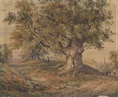 Manner of Paul Sandby - The Old Oak, 19th Century Watercolour