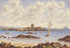 M.F.S - St. Aubin's Fort, Jersey, 1883 Watercolour