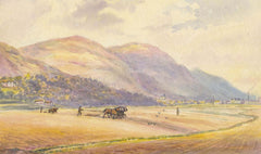 M.F.S - Ploughing the Field, 1886 Watercolour