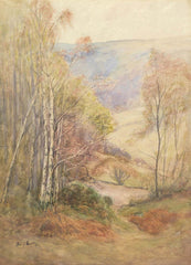 Fred H. Dudley - Welsh Valley in Spring, Early 20th Century Watercolour