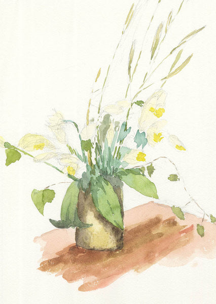Malcolm Mitchell - Daffodils, Original Contemporary Watercolour Painting