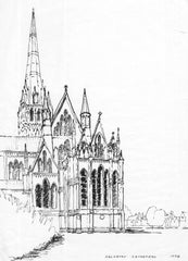 Malcolm Mitchell - Salisbury Cathedral, 1998 Pen and Ink