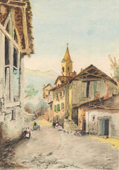 George [Bradley] - A Swiss Chalet, Early 20th Century Watercolour
