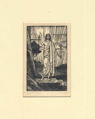 Blessing Christ, Woodcut