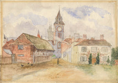 Clock Tower Watercolour