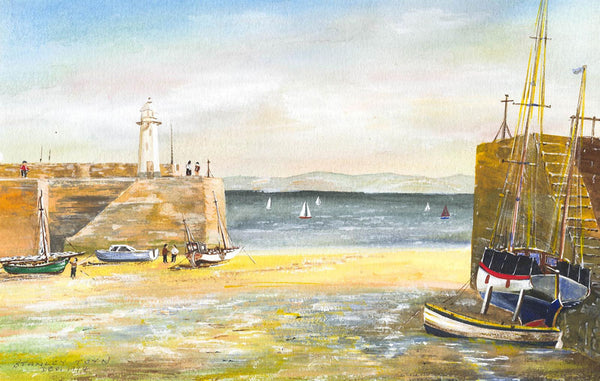St. Ives - Stanley Toyn, Original 1994 Watercolour Painting