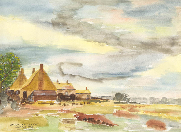 Stanley Toyn - South West Farmhouse, 1996 Original Watercolour Painting