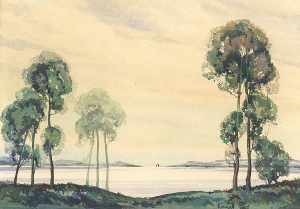 Kenneth Steel - Lakeside, Mid 20th Century Original Watercolour