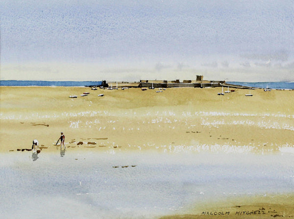 Malcolm Mitchell  - Castles on the Sand, 2004 Watercolour