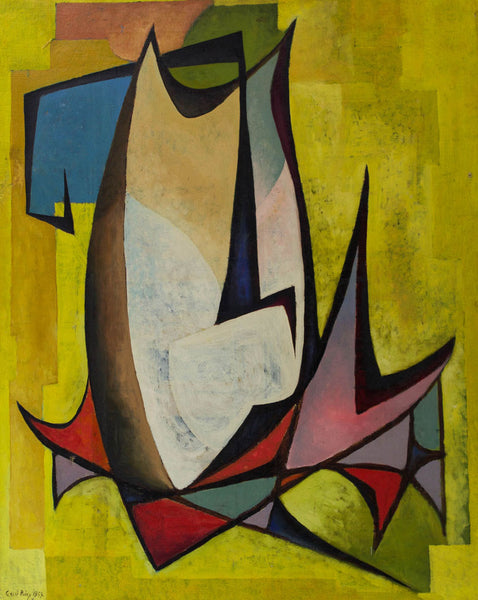 Cecil Riley - Abstract Composition, 1995 Oil