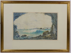 Norton Willis - A Cave in the Cliff, Early 20th Century Watercolour Painting