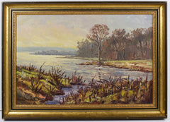 Charles Brooker - River Scene, Mid 20th Century Oil