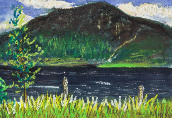 Cecil Riley - Loch View, 1991 Original Mixed Media Painting