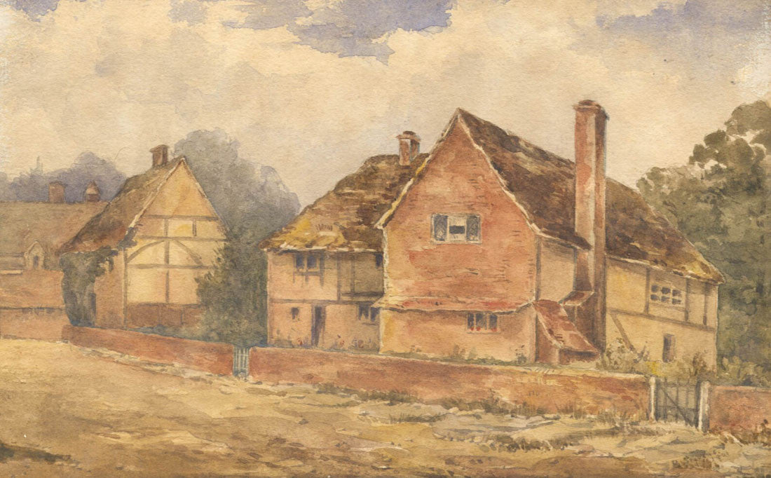 Country Cottage - Early 20th Century Watercolour