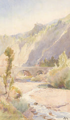 A. W. R - Mountain Stream, Original 20th Century Watercolour Painting