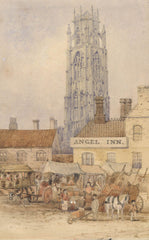 A. Rimmer - The Angel Inn, 19th Century Watercolour