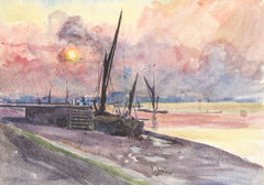 Muriel Rose - Fishing Boats, Mid 20th Century Watercolour
