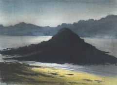 Darkened Seascape - Cecil Riley, Original Watercolour Painting