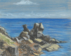 Cecil Riley - Out To Sea, Original Contemporary Pastel