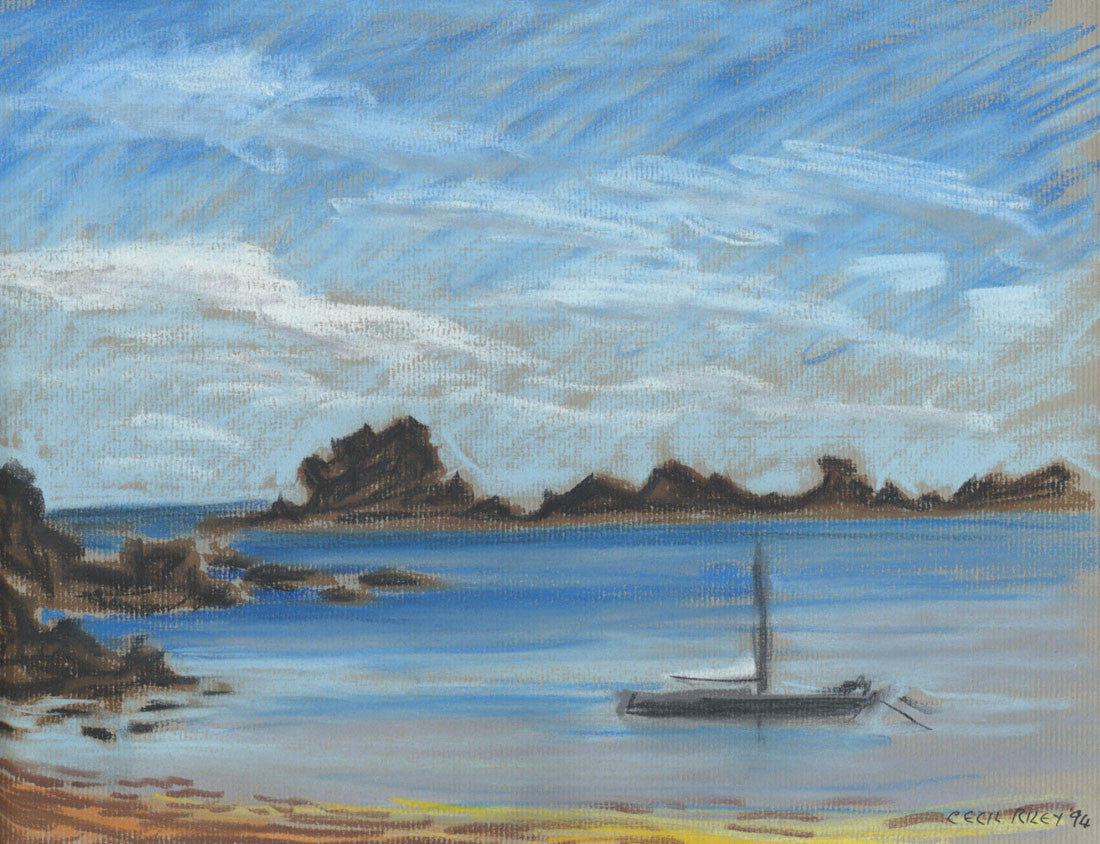 Cecil Riley - Bryher, Isles of Scilly, 1994 Pastel
